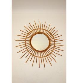 Grote vintage franse zonnestraal spiegel