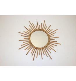 Vintage French sunburst mirror