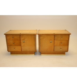 2 bedside tables with 2 drawers and a door 50 years