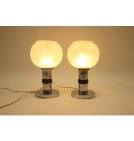 2 Bolle art deco stijl lampen