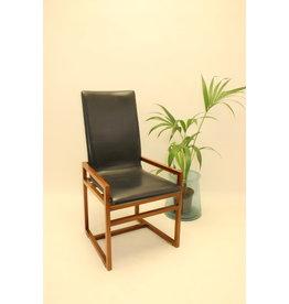 Designer fauteuil zwart blauw