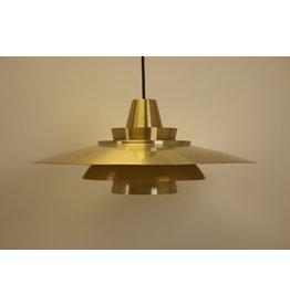 Deense hanglamp Super light denmark 70s Goud