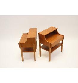 Scandinavian bedside tables 60s Teak from Ab Carlstrom & Co
