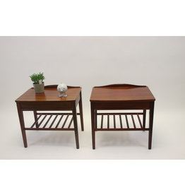 Scandinavian bedside tables rosewood 1960s
