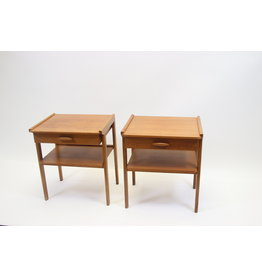 scandinavie Danish vintage bedside tables with drawer from the 60s