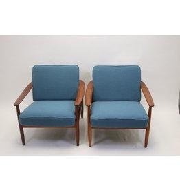 Hans Olsen Hans Olsen armchairs handmade in Denmark 1960