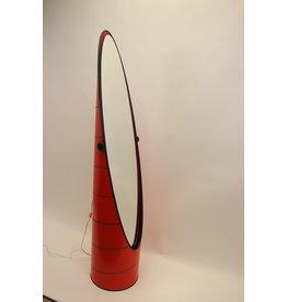 Vintage Zweedse rode lippenstift vloerspiegel jaren 70