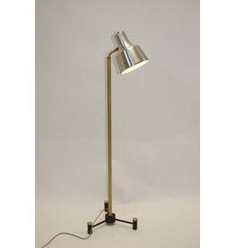 Vintage messing verstelbare vloerlamp