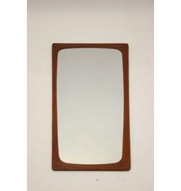 Grote Deense vintage spiegel teakhout