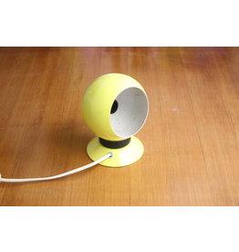 Geel  Bol Magneet Lampje met gele voet