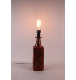 Brutalistische tafellamp gemaakt van keramiek, jaren60
