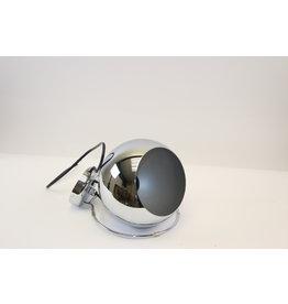 Vintage chrome bollamp,wandlamp,Mid Century Modern,Space Age,Nederlands design