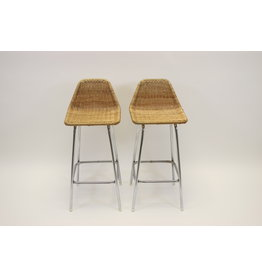 Vintage Dirk van Sliedrecht bar stool / stool set of 2