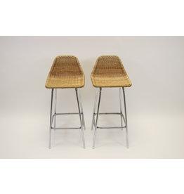 Vintage Dirk van Sliedrecht barkruk /stool set van 2