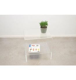 Plexiglass side table and magazine rack