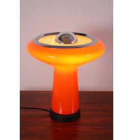 Italiaanse tafellamp gekleurd glas 1960