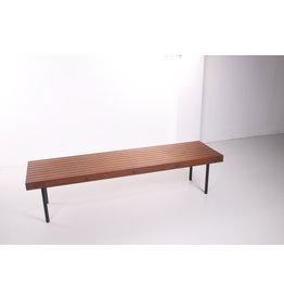 Scandinavian Vintage wooden sofa with metal legs