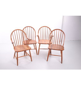 Erik Ole Jorgensen Danish teak dining room chairs for Tarm Stole