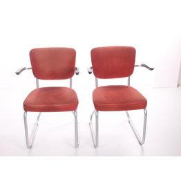 Friso Kramer buisframe stoel met armleuning