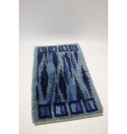 Hand-knotted swedish rug Dark blue