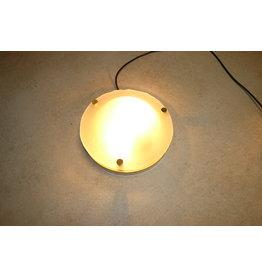 Vintage frosted glass ceiling lamp from Fischer Leuchten