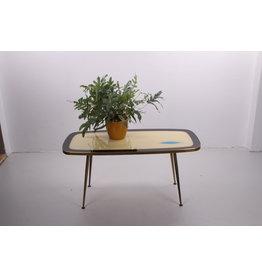 Vintage salontafel jaren60 met glazenblad