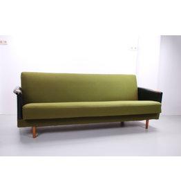 Vintage Scandinavische slaapbank groen