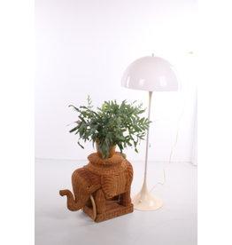 Rotan bamboe olifanten bijzettafel bruin (1960s)
