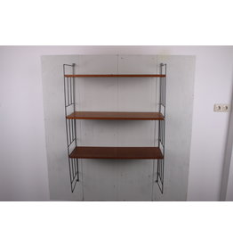 Wall rack wall system or bookshelf wood 1960s WHB