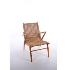Vintage fauteuil met touw uit de jaren 60