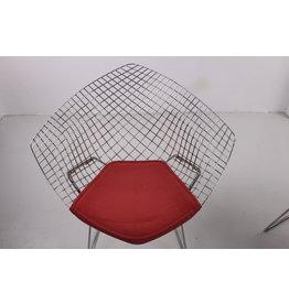 Harry Bertoia Vintage Design Draadstoel diamond Model 421 gemaakt bij  Knoll