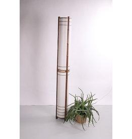 Vintage vloerlamp van bamboe en papier