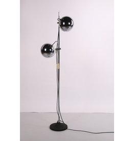 Herda chromen vloerlamp met verstelbare oogbol lampjes