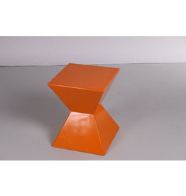 Oranje rode Kubis Space Age Bijzet Tafeltje of krukje