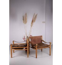 Safari Chairs Model Sirocco jaren 60 ontwerp Van  Arne Norell Sweden