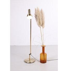 Vintage deens gouden vloerlamp van dansa