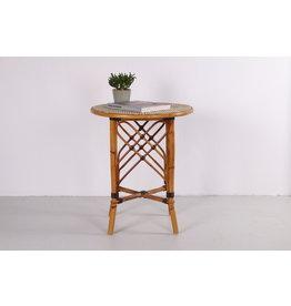 Vintage rotan tafel bamboe Bohemian style