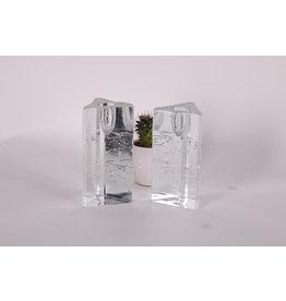 Iittala ARKIPELAGO glazen kandelaar ontworpen door Timo Sarpaneva,  moderne Finse kunst glas