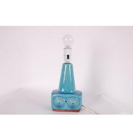 Vintage Design Keramiek lampenvoet licht blauw Denmark.