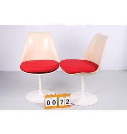 Eero Saarinen tulp stoelen met vaste voet, Knoll International