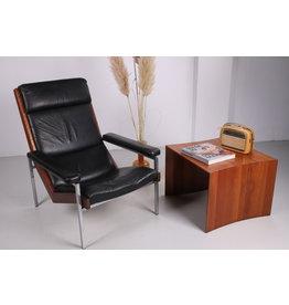 Palissander en Leren Lotus stoel van Rob Parry voor 't Spectrum, 1960