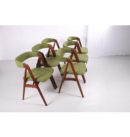Eetstoelen van Th. Harlev voor Farstrup Møbler Model 205, jaren 60, set van 6