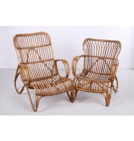 Set Rohe Dirk van sliedrecht lounge stoelen Dames en Heren Model jaren50