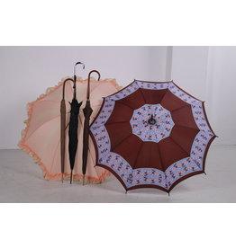 Set van 5  zeer oude Antieke zijden Paraplu s