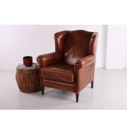 Vintage schaapsleren fauteuil, jaren 70s