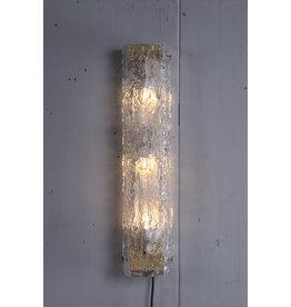 Langwerpige wandlamp van Kaiser Leuchten met bubble glas jaren60
