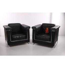 Set leren fauteuils van het merk Zuco Model Carat jaren70