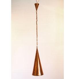 Deense handgehamerde koperen hanglamp van E.S Horn Aalestrup, jaren 50