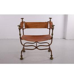 Italiaans stoel gemaakt in 1940 door Iron Savonarola Dante.
