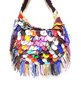 Leather shoulder bag festival large 2227